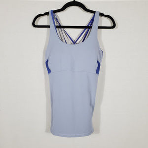 Athleta Blue Workout Tank w/ Built in Bra Size M
